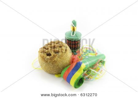 Pork Pie With Blower And Party Popper