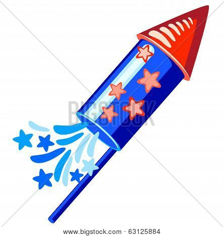 4Th July Blue Rocket