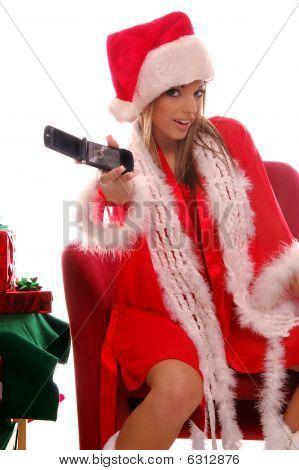 Sexy señora Santa móvil