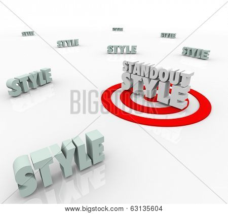 Standout Style Targeted Words Competitive Choices Fashion Trends