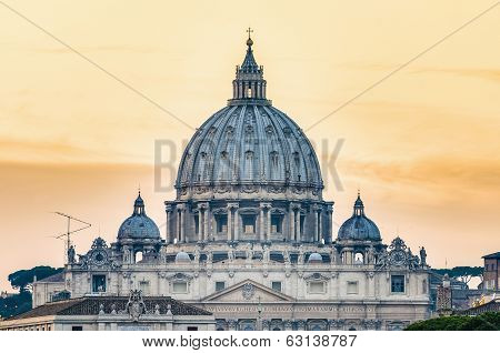 Saint Peter's Basilica In Vatican City, Italy