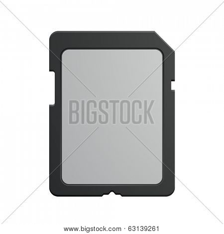 detailed illustration of a modern SD memory Card, eps10 vector