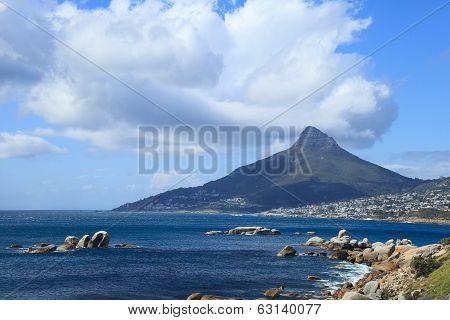 Beautiful Camps Bay Beach And Lion Head Mountain