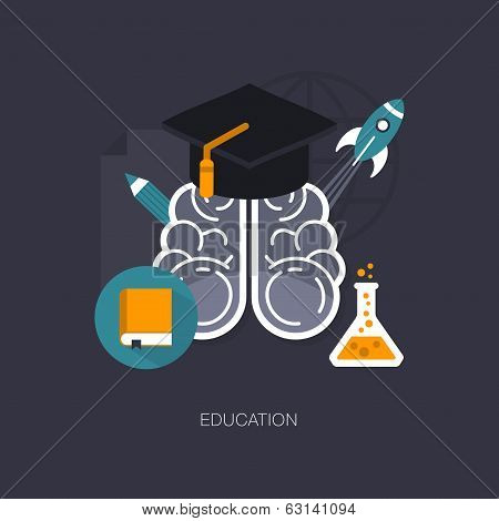 vector modern education concept illustration