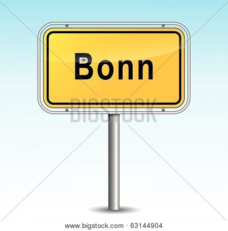 Vector Bonn Signpost