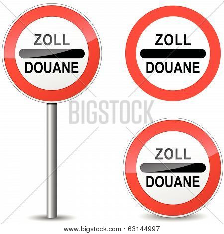 Vector Douane Sign