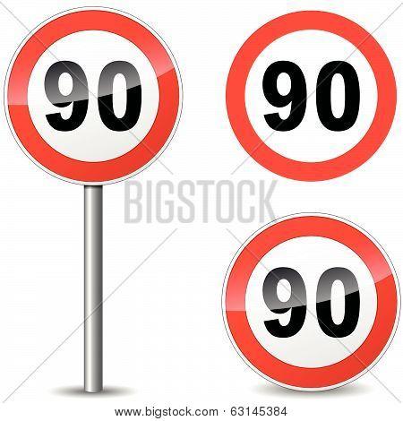 Vector Ninety Sign