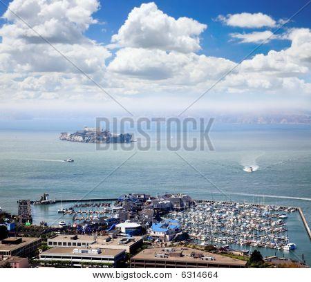 Alcatraz Island And  Pier 39