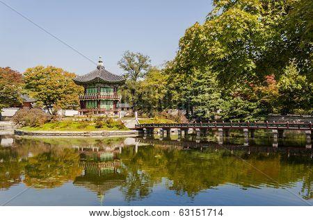 Korean Temple, Emperors Island In Gyeongbokgung Palace. Seoul