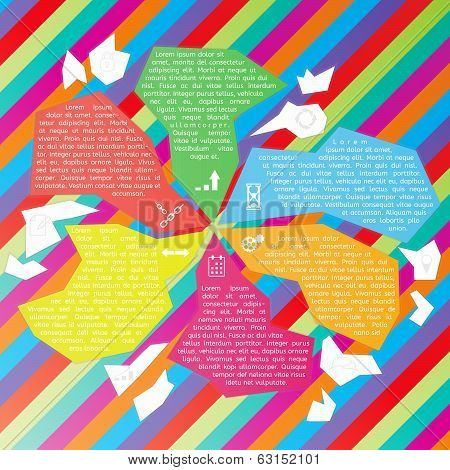 Vector Abstract Fragments Infographic Template