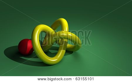 Torus With Red Ball