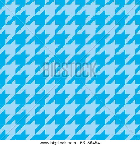 Houndstooth seamless blue vector pattern. Tweed fashion tile tartan background