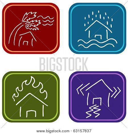 An image of house damage icons.
