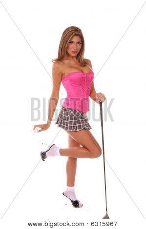 sexy Golfspieler