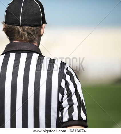 back of a football referee