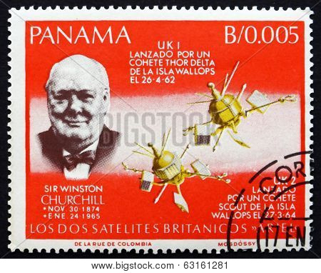 Postage Stamp Panama 1966 Sir Winston Churchill
