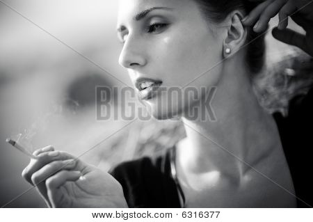 Young Smoking Woman