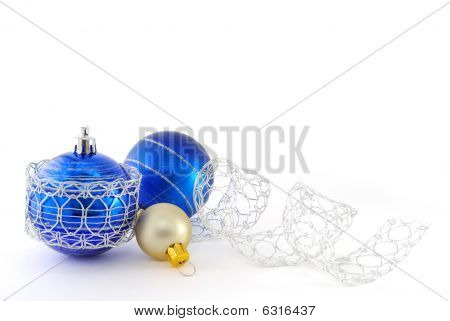 Blue And White Balls