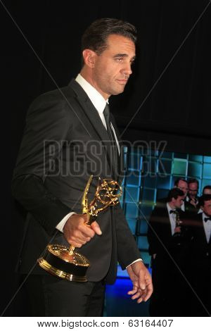 LOS ANGELES - SEP 22: Bobby Cannavale in the press room during the 65th Annual Primetime Emmy Awards held at Nokia Theater L.A. Live on September 22, 2013 in Los Angeles, California