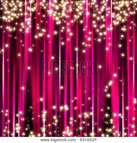 Sparkle pink stars background