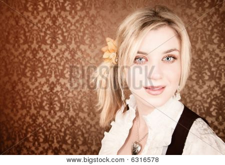 Pretty Young Blonde Woman