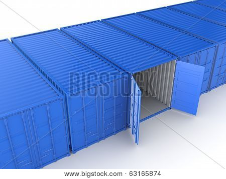 Colorful containers.