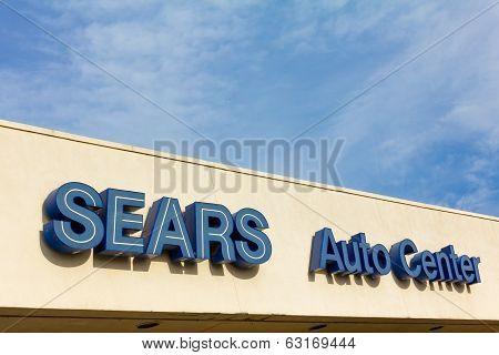 Sears Auto Center Sign