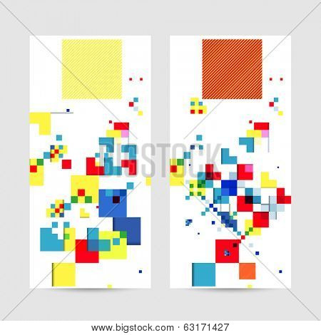 Square geometrical abstract background