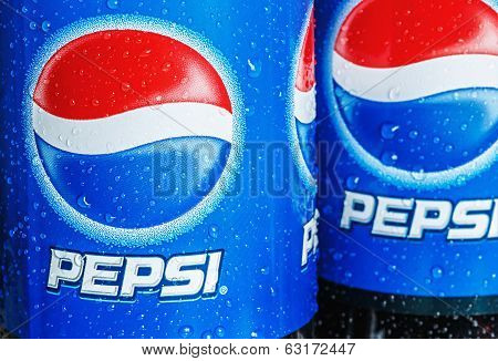 Plastic Bottle With Cola Drink Pepsi