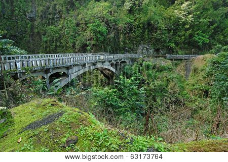 Bridge on the Road to Hana, Maui, Hawaii