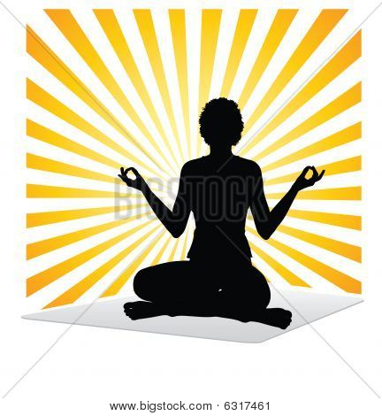 Woman yoga practice