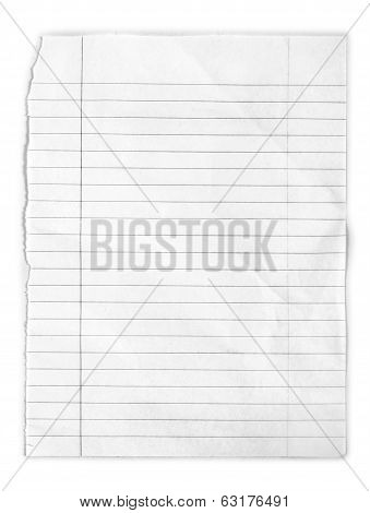 snatch page from notepad on an isolated white background