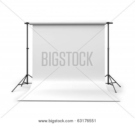photo lighting equipment isolated on a white background, 3d