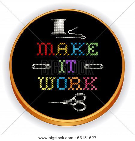 Embroidery, Make It Work Cross Stitch On Wood Hoop