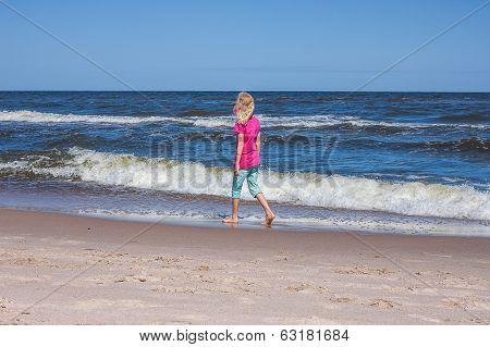 Wander At Sandy Coastline