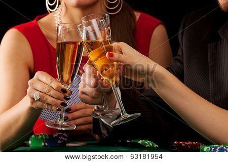 Gambling Champagne Cheers