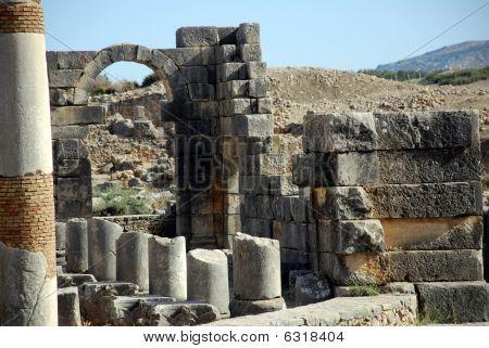 Ciudad vieja de Volubilis romana