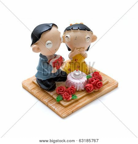 Couples doll made from plasticine