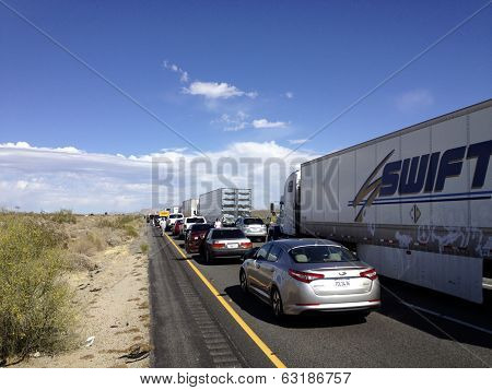 Traffic Jam In The Desert