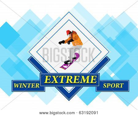Snowboarding.Adventure Winter Sport.