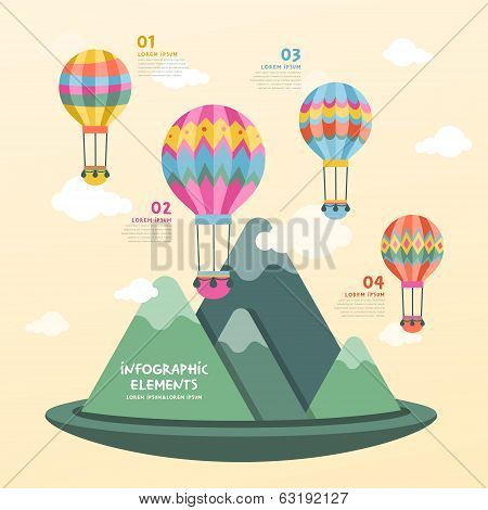 Hot Air Balloon Infographics Design