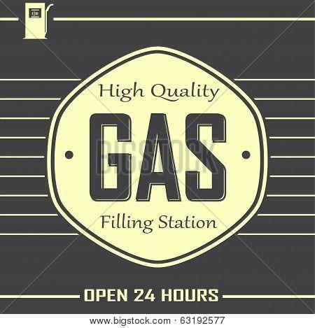 Gas Filling Station Banner