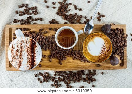 Selection Of Coffees
