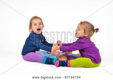 Twin Babies Exercising