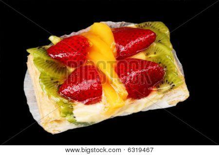 Mixed Fruit Tart On Black
