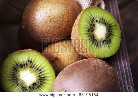 Freshly Sliced Kiwi