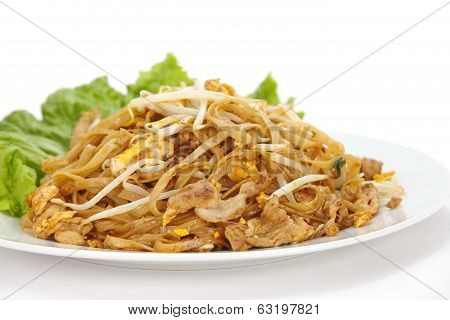 Thailand  national dishes, stir-fried rice noodles Pad Thai
