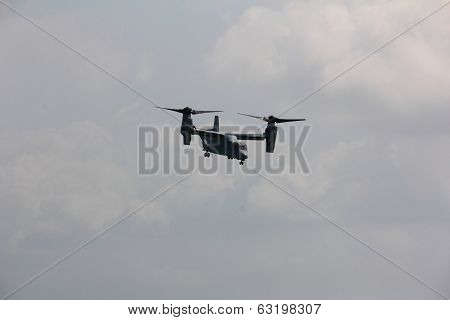 V-22 Osprey Executing A Hovering Manoeuvre