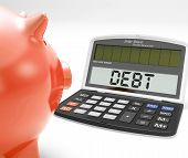 Debt Calculator Shows Credit Arrears Or Liability