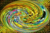 Abstract Art of Beautiful Color Background - Rainbow Ripple Reflections